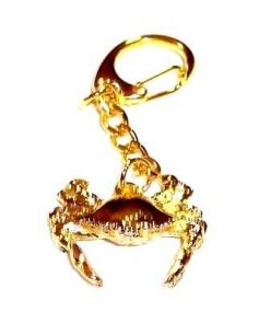 Breloc auriu cu crabul norocos