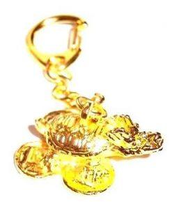 Breloc auriu cu Testoasa Dragon