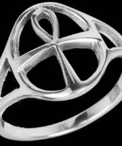Inel unisex din argint cu Cheia Intelepciunii/Ankh