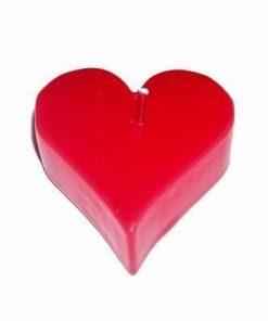 Lumanare rosie in forma de inima
