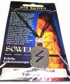 Runa SOWELO, din metal, cu cristal de stanca - unisex - 16