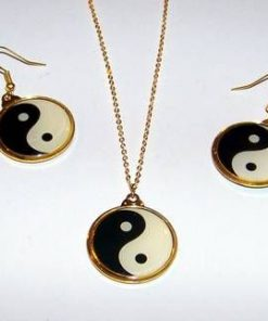 Set placat cu aur - Yin-Yang