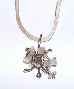 Pandantiv din metal nobil cu sidef - Fluture