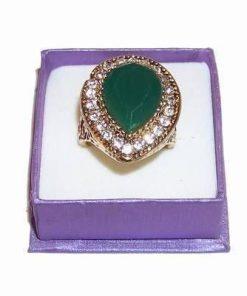 Inelul lui Hurrem cu smarald industrial multifatetat