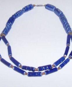Colier din ceramica albastra