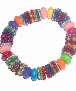 Bratara multicolora pe elastic