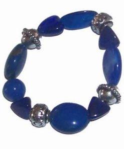 Bratara albastra pe elastic