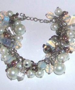 Bratara cu opal si perle sintetice
