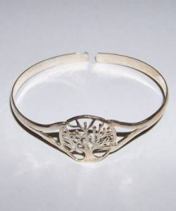 Bratara argintie, din metal nobil cu Copacul Vietii