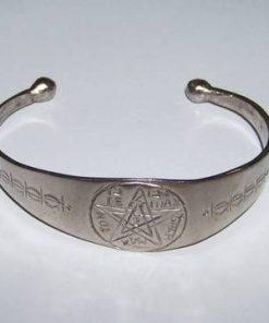 Bratara din metal nobil cu pentagrama