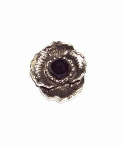 Pandantiv vintage din metal nobil - floarea protectiei