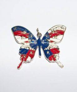 Talisman din metal nobil cu Fluturele eliberarii de trecut