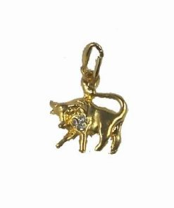 Pandant placat cu aur cu Bivolul succesului absolut