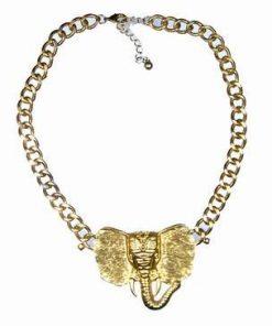 Colier aiuriu cu elefantul norocului de urmas marime XXL