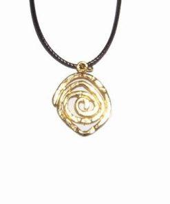 Pandantiv auriu cu simbol Reiki de protectie