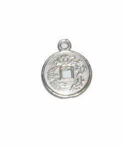 Pandant argintiu cu moneda chinezeasca
