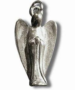 Ingerul protector - Talisman din metal cu agat pe siret