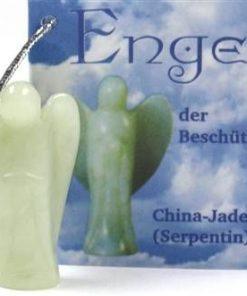 Ingerul protectiei din jad, cu agatatoare din metal auriu