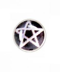 Cercel din argint cu pentagrama magica - barbatesc