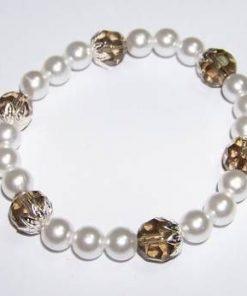 Bratara tip perle cu cristale tip cuart fumuriu