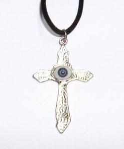 Cruce cu Ochiul lui Horus pe siret negru
