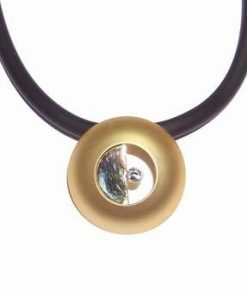 Talisman din metal nobil auriu - Yin-Yang stilizat