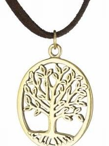 Copacul vietii din alama pe siret negru