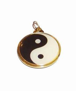 Talisman cu simbolul Yin-Yang auriu