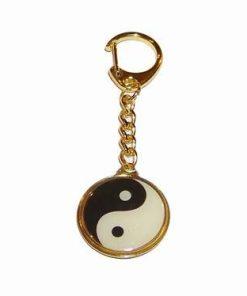 Breloc auriu cu Yin-Yang