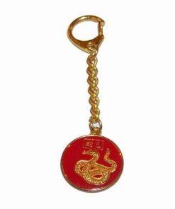 Breloc auriu cu zodia Sarpe