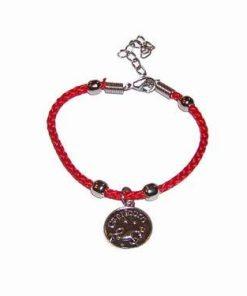 Bratara rosie, cu metal nobil, pentru zodia Taur