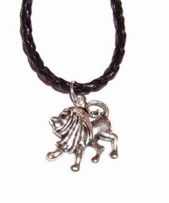 Pandantiv pe siret negru - Leu