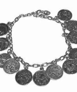 Bratara puterii cu cele 12 semne zodiacale arginti