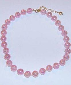 Colier cu sfere roz - dragoste