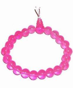 Bratara Mala pe elastic, de culoare roz