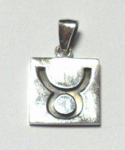 Talisman din argint cu zodia Taur/bivol