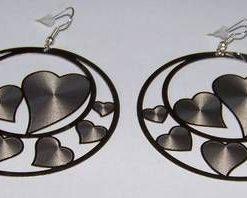 Cercei fantezie cu simboluri de dragoste - argintii