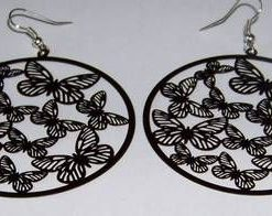 Cercei fantezie cu fluturii puritatii - negri