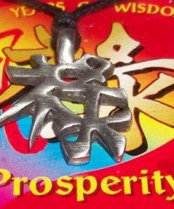 Ideograma prosperitatii, pe siret negru - unicat!
